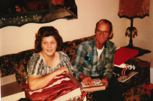 My grandparents at Christmas